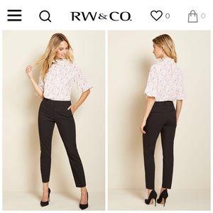RW & Co. | Ankle Slim Office Pant Black Sz 0 / 26